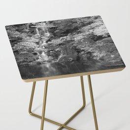 Waterfall in Japanese Zen Garden Side Table