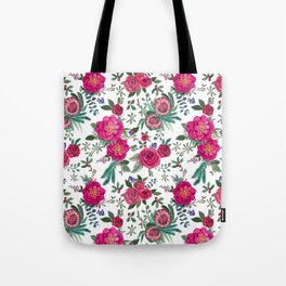 Fall Floral / Autumn flowers Tote Bag