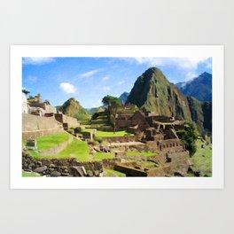 Machu Picchu Textured Art Print