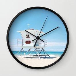 Lifeguard tower Carlsbad 35 Wall Clock