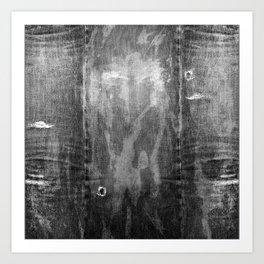 black denim Art Print
