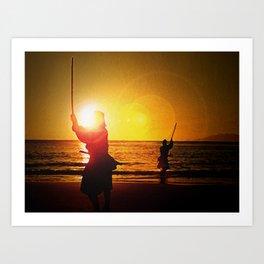 Duel at Ganryu Island - Miyamoto Musashi Art Print