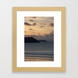 Evening Skies Over Polzeath Framed Art Print