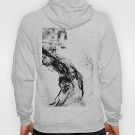 MONOCHROME MARBLE / INDIAN INK IN WATER Hoody