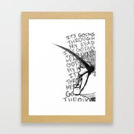 It's Going Through My Head - Kaneki Ken Framed Art Print