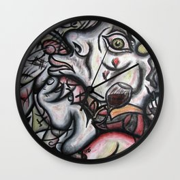 """Waking Up In an Alleyway In Hollywood"" Wall Clock"