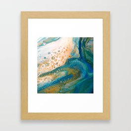 Panning for Gold - Abstract Acrylic Art by Fluid Nature Framed Art Print