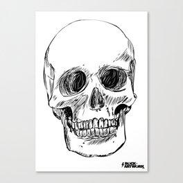Simple Skull Canvas Print