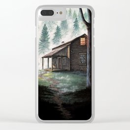 Cabin in the Pines Clear iPhone Case