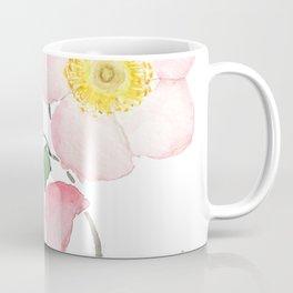pink rosa rubiginosa watercolor Coffee Mug