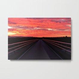 Haast Sunset Metal Print