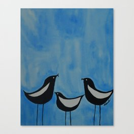 Chirping Birds Canvas Print