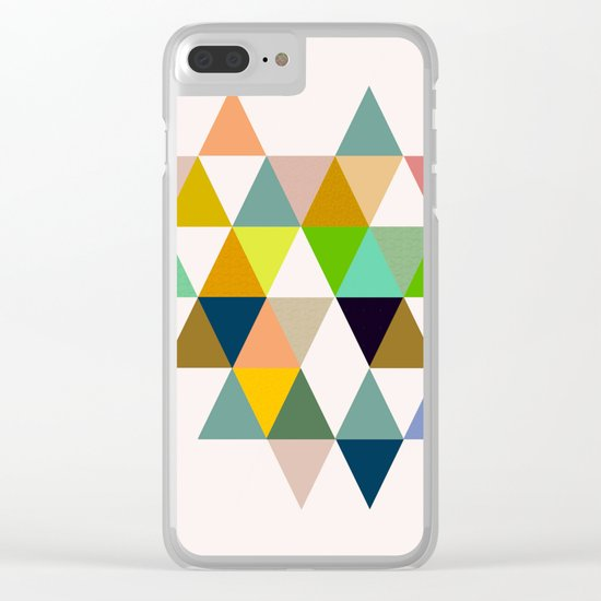 Abstract #742 Clear iPhone Case
