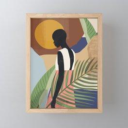 Tropical Girl 2 Framed Mini Art Print