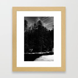 Ice in the Pines Framed Art Print