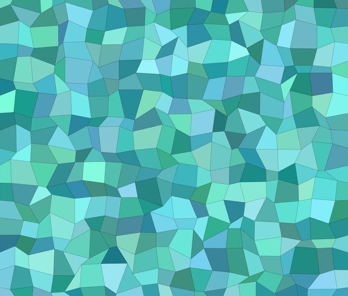 Teal rectangle mosaic Metal Travel Mug