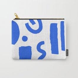 Brush Stroke Minimal 19 - Abstract Pattern Shapes Modern Mid Century Texture Blue. Gift idea Home deco Carry-All Pouch
