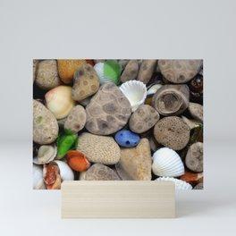Petoskey Stones lll Mini Art Print