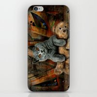 kpop iPhone & iPod Skins featuring Cat Diesel with teddybear ! by teddynash