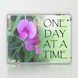 One Day at a Time Sweet Peas Laptop & iPad Skin