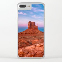 Westward Dreams - Sunset in Monument Valley Clear iPhone Case