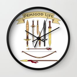 Demigod Life Includes Weapons Wall Clock