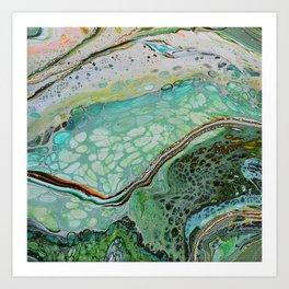 Earth Pour 1 Art Print