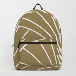Diamond Series Floral Burst White on Gold Backpack