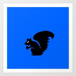 Angry Animals: Squirrel Art Print