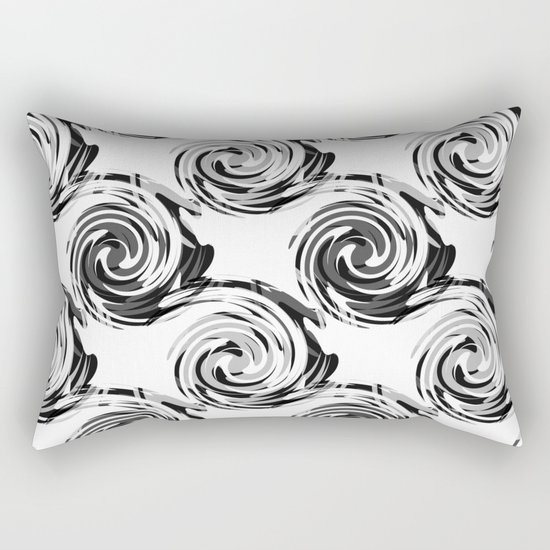Abstract pattern in black and white tone. Rectangular Pillow