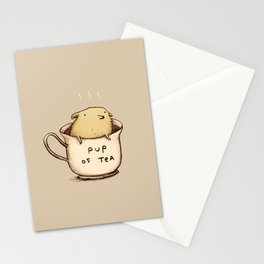 Pup of Tea Stationery Cards