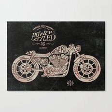 Power Styled Motorcycle Canvas Print