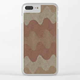 Under the Influence (Marimekko Curves) Putty in Your Hands Clear iPhone Case