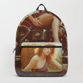 Motorcycle and Pinup Backpack