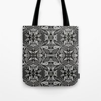 henna Tote Bags featuring Henna Droplets  by Kim Mihiel