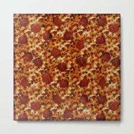 Pepperoni Pizza Metal Print