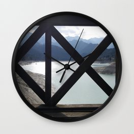 A Fence With A View Wall Clock