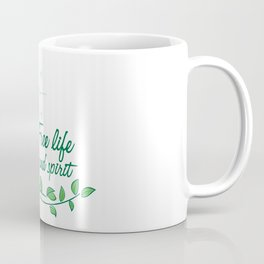 Hummingbird Free Life Quote Coffee Mug