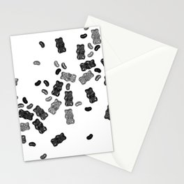 Black and White Gummy Bears Explosion Stationery Cards