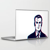 no face Laptop & iPad Skins featuring face by radiozimbra