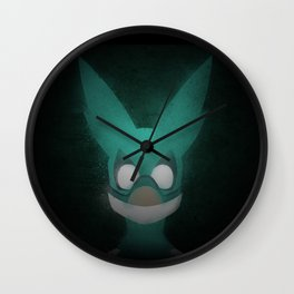 Midoriya Mask Wall Clock