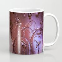 jewish Mugs featuring Red Glass Bubbles by Brown Eyed Lady