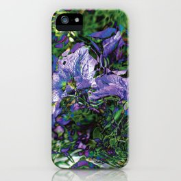 Abstracted Purple Petunias iPhone Case
