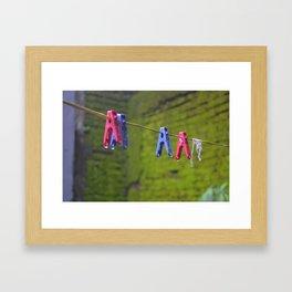 Keep Holding On Pals!! Framed Art Print