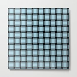 Light Blue Weave Metal Print