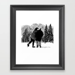 LOVE IN THE MOUNTAINS! Framed Art Print