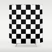 chess Shower Curtains featuring Chess by ArtSchool