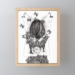Wolf Moon Framed Mini Art Print