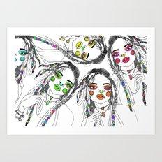 Digital_Girl Art Print