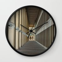 outdoor Wall Clocks featuring Outdoor Corridor by Kevin Myron
